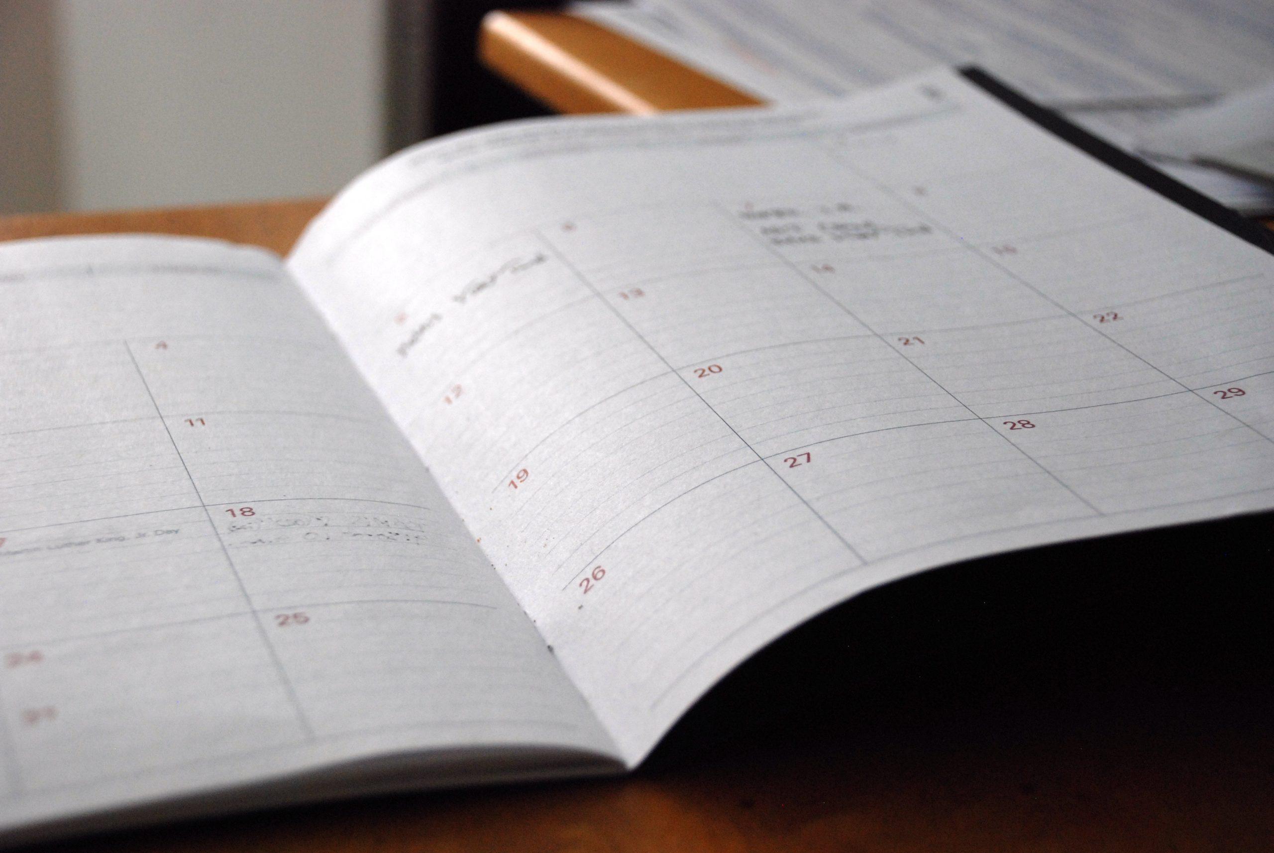generic image of a calendar